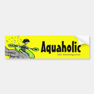 Kayaking Whitewater Silhouette Bumper Stickers