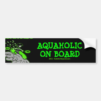 Kayaking Whitewater Silhouette Bumper Sticker