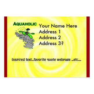 Kayaking Whitewater Silhouette Large Business Cards (Pack Of 100)