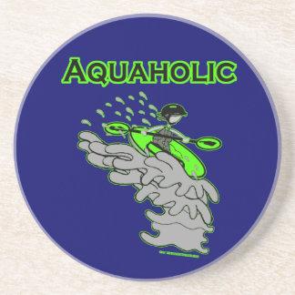 Kayaking Whitewater Silhouette Coaster