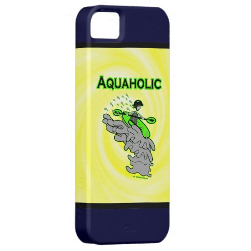 Kayaking Whitewater Silhouette iPhone 5 Covers