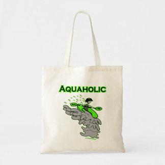 Kayaking Whitewater Silhouette Tote Bag