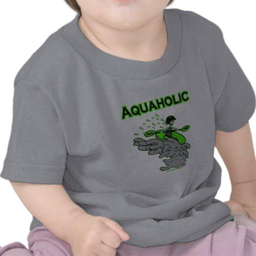 Kayaking Whitewater Silhouette Tshirts