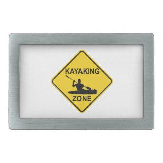 Kayaking Zone Road Sign Belt Buckle