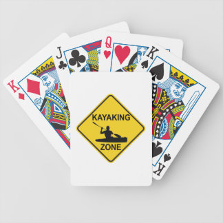 Kayaking Zone Road Sign Bicycle Playing Cards