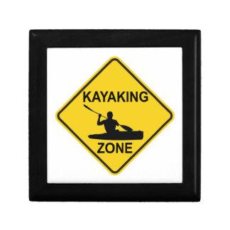Kayaking Zone Road Sign Jewelry Box