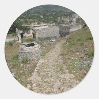 Kayaköy - Levissi - pueblo pintoresco Pegatina Redonda