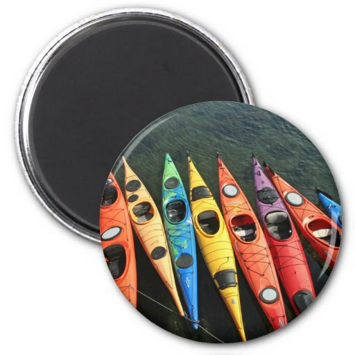 Kayaks! 2 Inch Round Magnet
