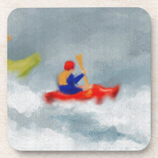 Kayaks Art Beverage Coaster