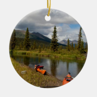 Kayaks at Rest Double-Sided Ceramic Round Christmas Ornament