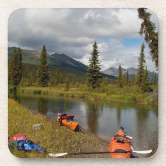 Kayaks at Rest Drink Coaster