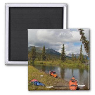 Kayaks at Rest Fridge Magnets