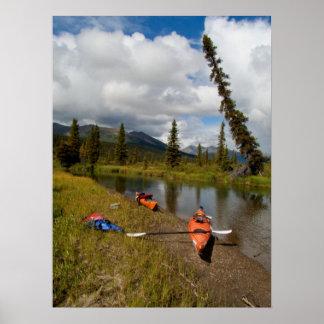 Kayaks at Rest Print