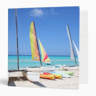 Kayaks, Catamarans And Kayaks| Cuban Beach 3 Ring Binder