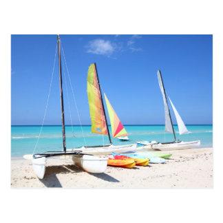 Kayaks, Catamarans And Kayaks| Cuban Beach Postcard