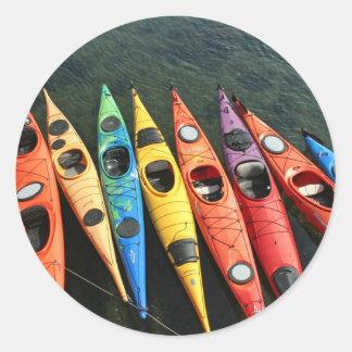 Kayaks! Classic Round Sticker