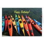 Kayaks! Greeting Cards
