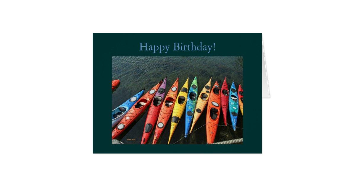 kayaks  happy birthday  card