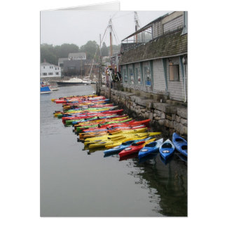Kayaks In Rockport Card