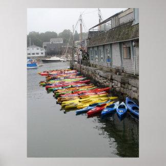 Kayaks In Rockport Poster