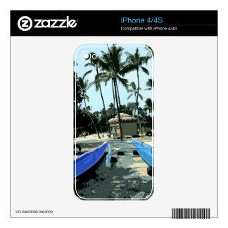 Kayaks On a Hawaiian Beach Decals For The iPhone 4