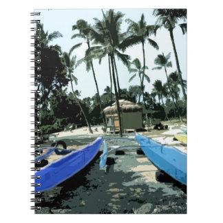 Kayaks on a Hawaiian Beach Notebook
