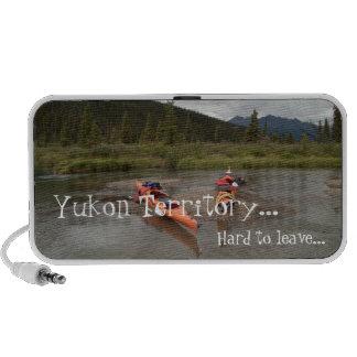 Kayaks on an Island; Yukon Territory Souvenir Travelling Speakers