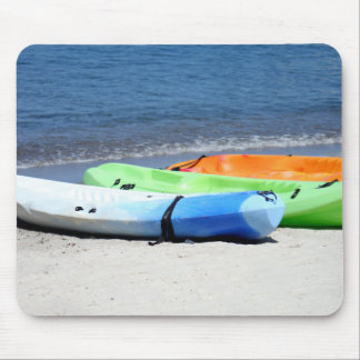 Kayaks on Beach Mouse Pad