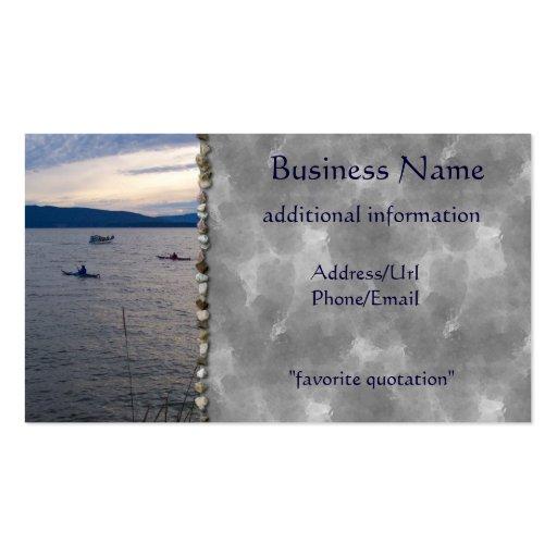 KAYAKS ON BELLINGHAM BAY BUSINESS CARDS