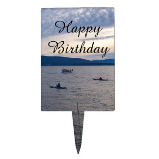Kayaks On Bellingham Bay Cake Topper