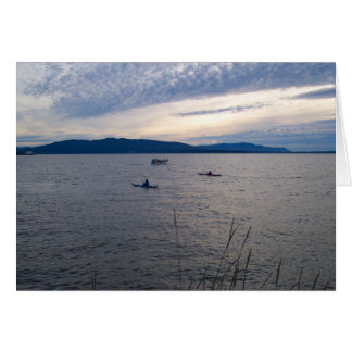 KAYAKS ON BELLINGHAM BAY CARD