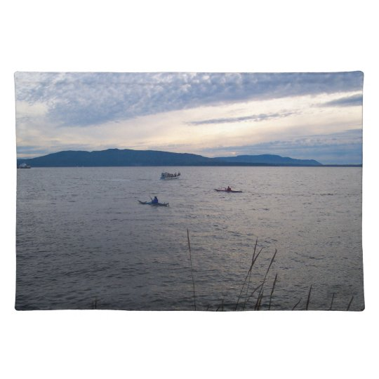 Kayaks On Bellingham Bay Cloth Placemat