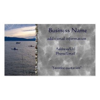 KAYAKS ON BELLINGHAM BAY Double-Sided STANDARD BUSINESS CARDS (Pack OF 100)