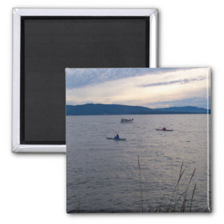 KAYAKS ON BELLINGHAM BAY MAGNET
