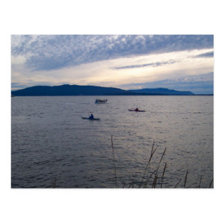 KAYAKS ON BELLINGHAM BAY POSTCARD