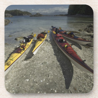 Kayaks on Dicebox Island, Broken Island Group, Drink Coaster