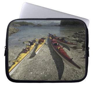 Kayaks on Dicebox Island Broken Island Group Computer Sleeve