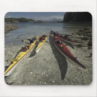 Kayaks on Dicebox Island, Broken Island Group, Mouse Pad
