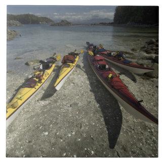 Kayaks on Dicebox Island, Broken Island Group, Tile