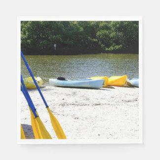 Kayaks on the bay napkin