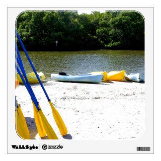 Kayaks on the bay wall decor