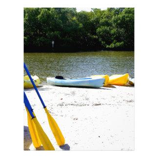 Kayaks on the Beach Letterhead Design