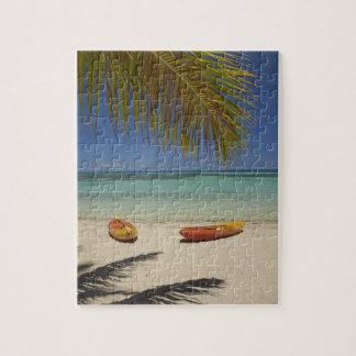 Kayaks on the beach, Plantation Island Resort 2 Jigsaw Puzzle