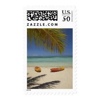Kayaks on the beach, Plantation Island Resort 2 Postage