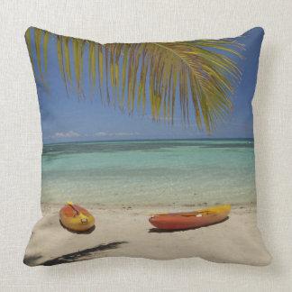 Kayaks on the beach, Plantation Island Resort 2 Throw Pillow