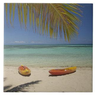 Kayaks on the beach, Plantation Island Resort 2 Tile