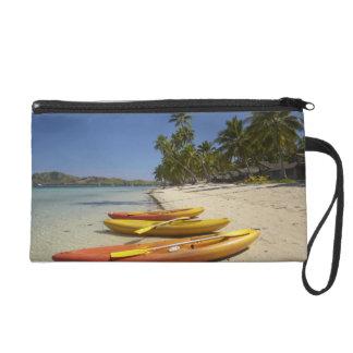Kayaks on the beach, Plantation Island Resort Wristlet