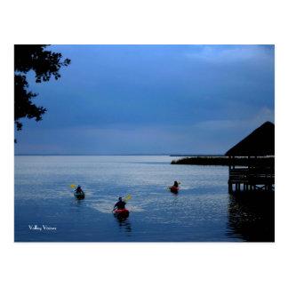 Kayaks on the Sound Postcard