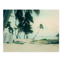 Kayaks, Surf Boards, and Surfers at Smathers Beach Postcard
