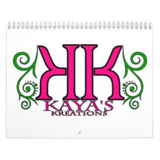 Kaya's Kreations 13mo Calendar